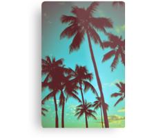 Vintage Tropical Palms Metal Print