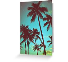 Vintage Tropical Palms Greeting Card