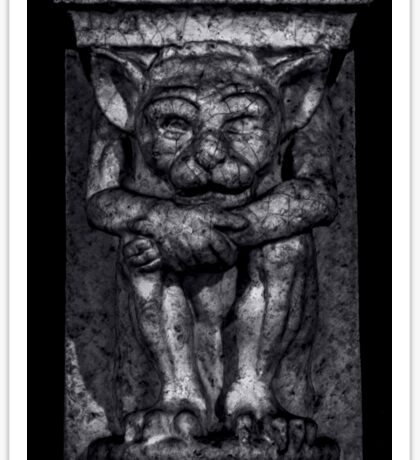 Gargoyle Portrait 1 Sticker