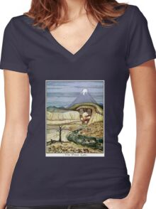The Lonely Mountain Women's Fitted V-Neck T-Shirt