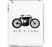 Old's Cool - Vintage Motorcycle Silhouette (Black) iPad Case/Skin