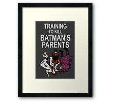 Training to kill Batman's Parents Framed Print