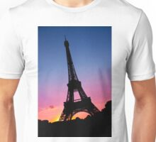 Eiffel tower silhouette Unisex T-Shirt