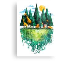 Geo Forest Metal Print