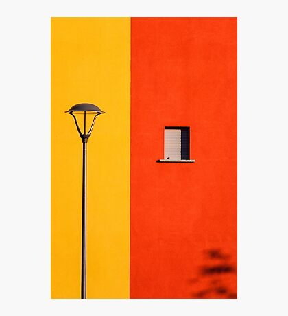 Streetlamp, window and wall Photographic Print