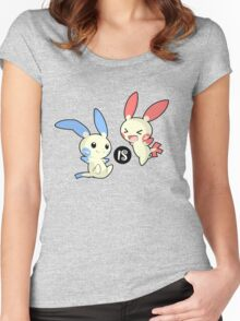 Minus is Plusle (Less is More) V1 Women's Fitted Scoop T-Shirt