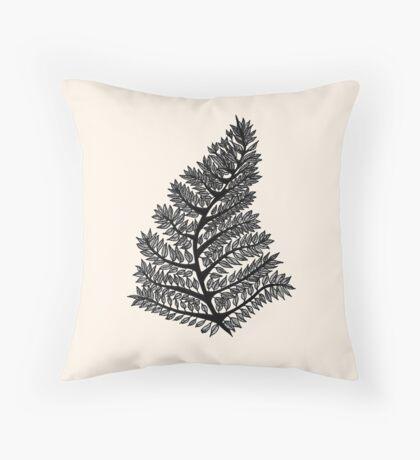 Fern Drawing - 2015 Throw Pillow