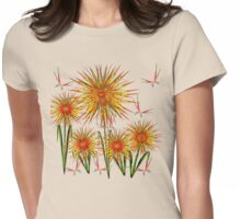 May Flowers Explode Womens Fitted T-Shirt