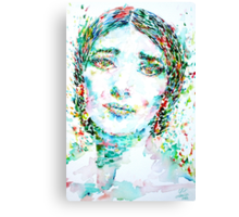 MARIA CALLAS -watercolor portrait Canvas Print