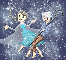 Elsa and Jack Frost by mayiying89