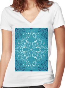 art forms like flowers Women's Fitted V-Neck T-Shirt