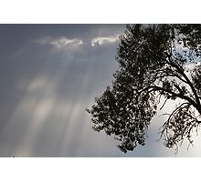 cloudy sky on the hilly Photographic Print