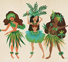 Luau Girls by Cat Coquillette