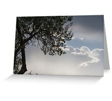 cloudy sky on the hilly Greeting Card
