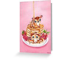 Three Pancake Deer Greeting Card