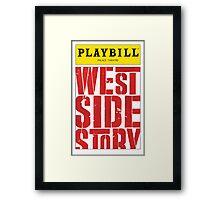 West Side Story Playbill Framed Print