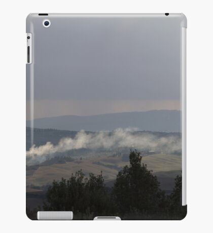 cloudy sky on the hilly iPad Case/Skin