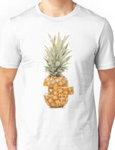 Posterised Pineapple Graphic Print Unisex T-Shirt