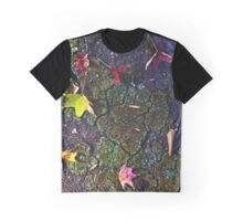 Fall Leaves & Cracked Earth Graphic T-Shirt