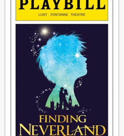 Finding Neverland Playbill Sticker