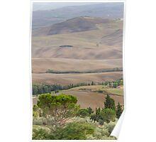 hilly landscape Poster