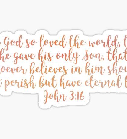 John 3:16 Sticker