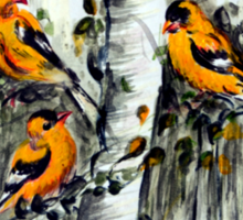 Gold Finches Sticker