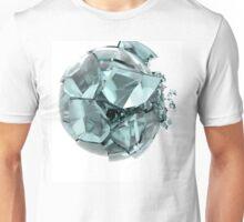 broken cracked transparent glass ball Unisex T-Shirt