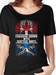 Canadian Grown With Scottish Roots Women's Relaxed Fit T-Shirt