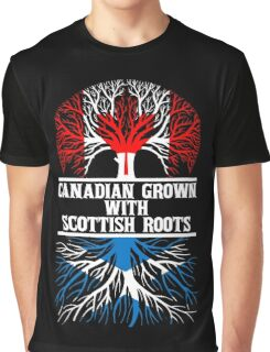 Canadian Grown With Scottish Roots Graphic T-Shirt