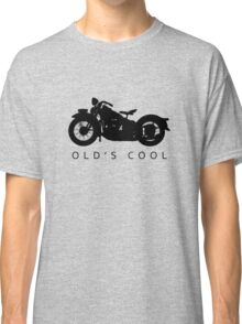 Old's Cool - Vintage Motorcycle Silhouette (Black) Classic T-Shirt