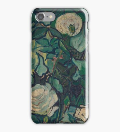 Vincent Van Gogh - Roses And Beetle, 1890 iPhone Case/Skin