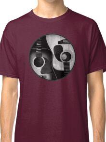 Ying Yang Guitar Black & White Classic T-Shirt