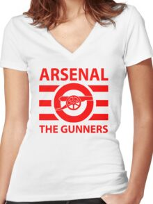 Arsenal - The gunners Women's Fitted V-Neck T-Shirt