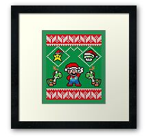 Super Mario Ugly Christmas Framed Print