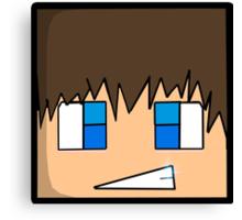 Minecraft head  Canvas Print
