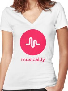 musical.ly musically Women's Fitted V-Neck T-Shirt