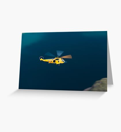 RAF Sea King Rescue Helicopter Greeting Card
