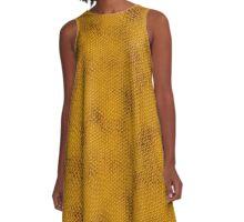 Snake Skin - Gold A-Line Dress