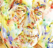 PABLO NERUDA - watercolor portrait.3 by lautir