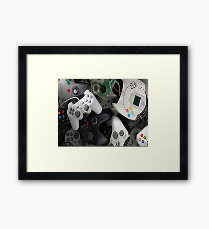 game pads Framed Print