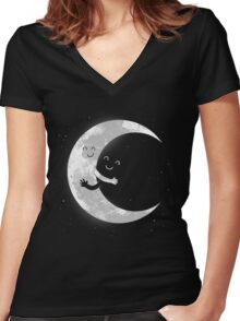 Moon Hug Women's Fitted V-Neck T-Shirt