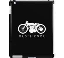 Old's Cool - Vintage Motorcycle Silhouette (White) iPad Case/Skin