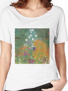 Gustav Klimt - Flower Garden, 1905-07 Women's Relaxed Fit T-Shirt