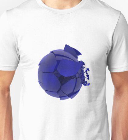 broken cracked blue glass ball Unisex T-Shirt