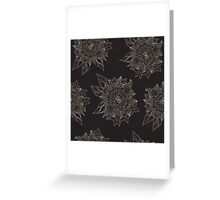 Black flowers Greeting Card