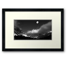 Moonrise Over Franconia Notch Framed Print
