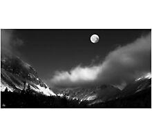 Moonrise Over Franconia Notch Photographic Print