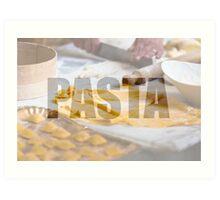 Cooking fresh pasta Art Print