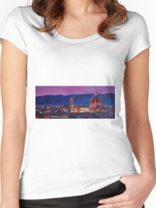 Florence Skyline Italy Women's Fitted Scoop T-Shirt